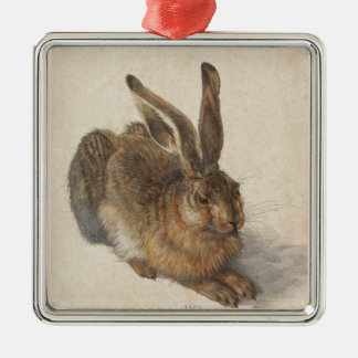 The Hare or  Young Hare in Winter Metal Ornament