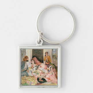 The Harem, c.1850 Silver-Colored Square Keychain