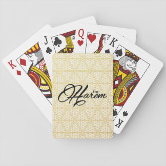 The Harem Logo & Symbol Gold Pattern Playing Cards