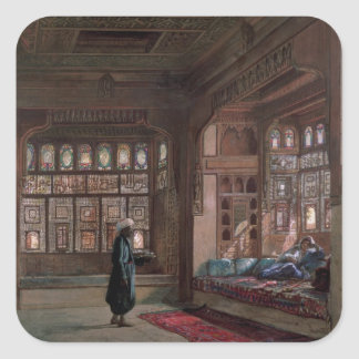 The Harem of Sheikh Sadat, Cairo, 1870 Square Sticker