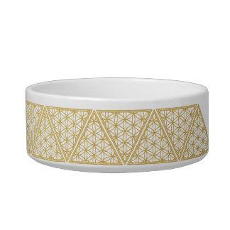 The Harem Symbol Gold Pattern Pet Small Bowl Pet Water Bowls