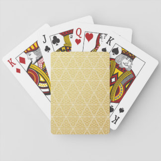 The Harem Symbol Gold Pattern Playing Cards