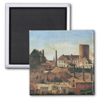 The Harkort Factory at Burg Wetter, c.1834 2 Inch Square Magnet