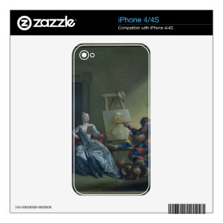 The Harlequin Painter, c.1742 (oil on canvas) Decal For iPhone 4