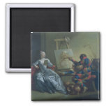 The Harlequin Painter, c.1742 (oil on canvas) Magnet