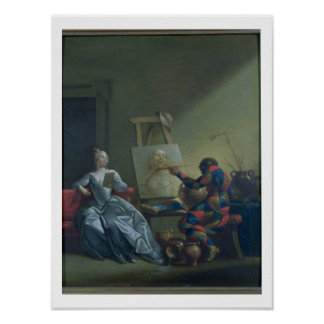 The Harlequin Painter, c.1742 (oil on canvas) Poster