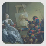 The Harlequin Painter, c.1742 (oil on canvas) Stickers