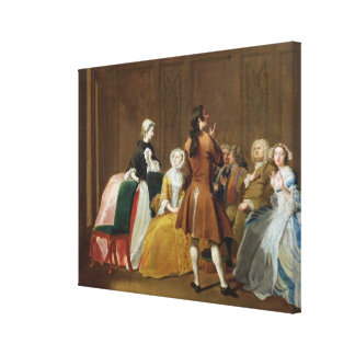 The Harlowe Family, from Samuel Richardson's 'Clar Canvas Print