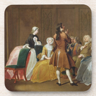 The Harlowe Family, from Samuel Richardson's 'Clar Drink Coaster