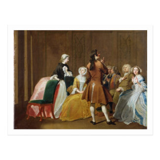 The Harlowe Family, from Samuel Richardson's 'Clar Postcard