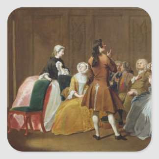 The Harlowe Family, from Samuel Richardson's 'Clar Square Sticker