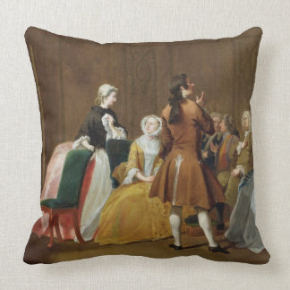 The Harlowe Family, from Samuel Richardson's 'Clar Throw Pillow