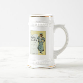 The Harmless Little Girl Vintage Songbook Cover 18 Oz Beer Stein