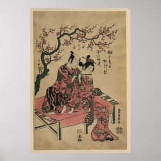 The Harmonic Couple - Japanese Vintage Art Image Print