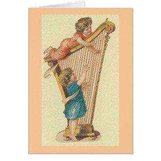The Harp Players Card