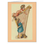 The Harp Players Greeting Card
