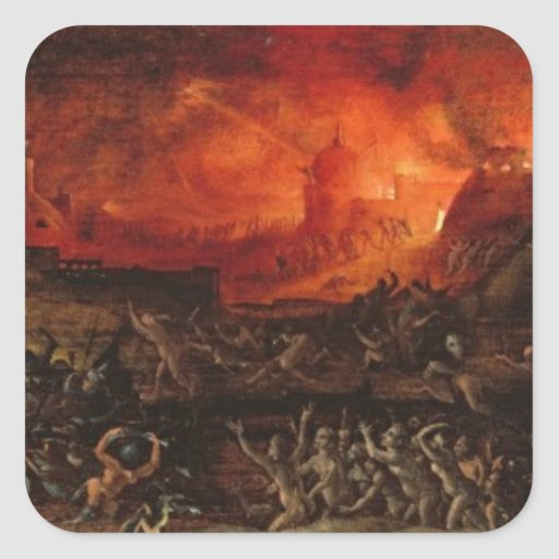 The Harrowing of Hell Square Sticker