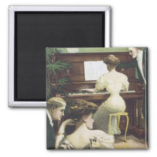 The Harvard Piano 2 Inch Square Magnet