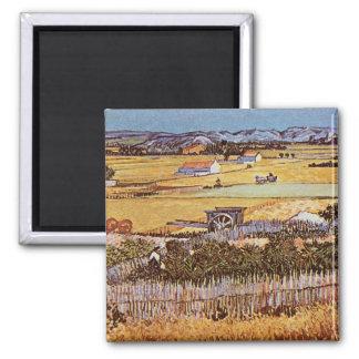 The Harvest by Vincent van Gogh Refrigerator Magnet