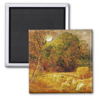 The Harvest Moon, 1833 (oil on paper laid on panel 2 Inch Square Magnet
