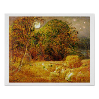 The Harvest Moon, 1833 (oil on paper laid on panel Poster