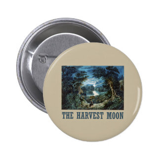 The Harvest Moon Pinback Buttons
