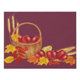 The Harvest-Plum Faux Wrapped Canvas Print