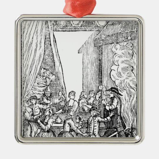The Harvest Supper, from the Roxburghe Ballads Metal Ornament