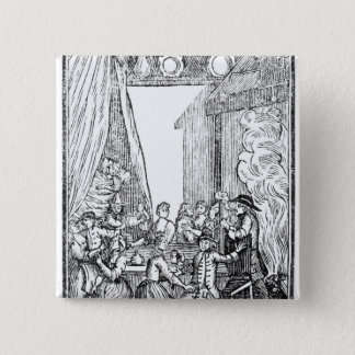 The Harvest Supper, from the Roxburghe Ballads Pinback Button