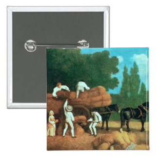 The Harvest Wagon 2 Inch Square Button