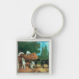 The Harvest Wagon Keychain