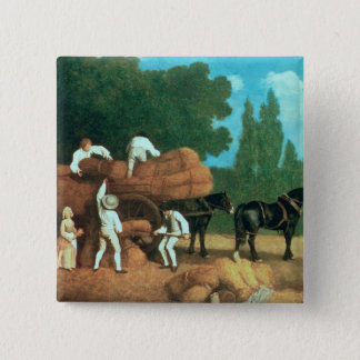 The Harvest Wagon Pinback Button