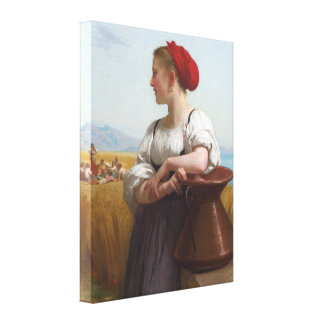 The Harvester by Bouguereau Canvas Print