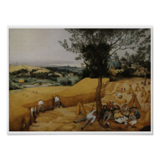 The Harvesters 1565 Vintage Art Print Poster