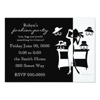 "The Hat Sale 5"" X 7"" Invitation Card"