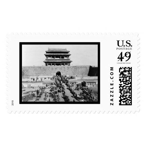The Hata Men Gate in Peking, China 1909 Postage Stamp