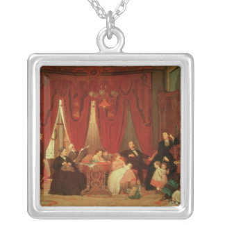 The Hatch Family, 1870-71 Square Pendant Necklace