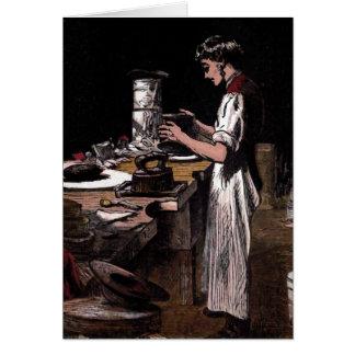 """""""The Hatmaker"""" Vintage Illustration Card"""