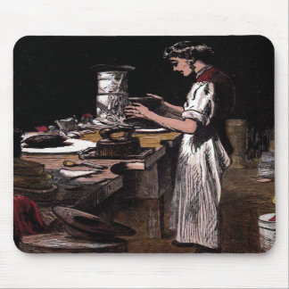 """The Hatmaker"" Vintage Illustration Mousepad"