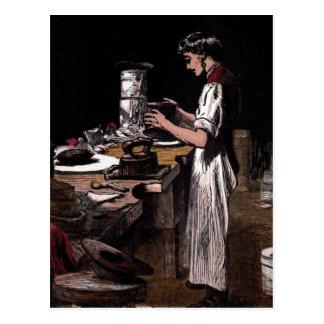 """""""The Hatmaker"""" Vintage Illustration Postcard"""