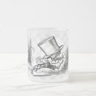 The Hatter Running Frosted Glass Coffee Mug