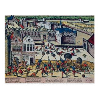 The Haultepenne Fury in 1581 Postcard