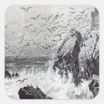 The Haunt of the Gulls Square Sticker