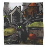 The Haunted Hills Folk Art HALLOWEEN Kerchiefs