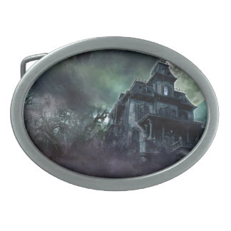 The Haunted House Paranormal Belt Buckle
