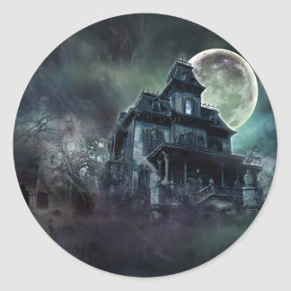 The Haunted House Paranormal Classic Round Sticker