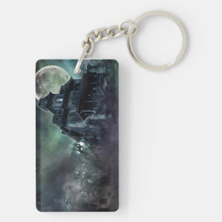 The Haunted House Paranormal Double-Sided Rectangular Acrylic Keychain