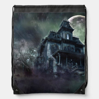 The Haunted House Paranormal Drawstring Backpack