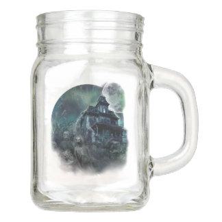 The Haunted House Paranormal Mason Jar