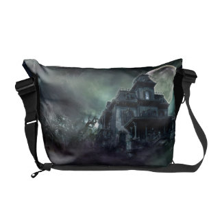 The Haunted House Paranormal Messenger Bag